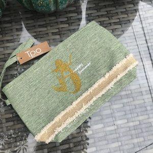 Sage Glitter Mermaid Cosmetics Bag